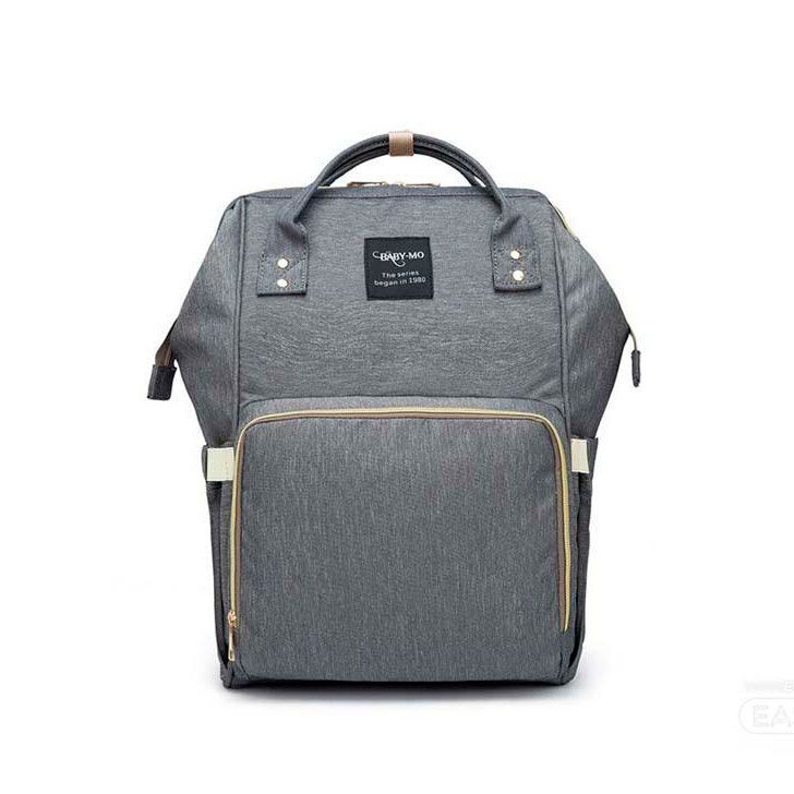 Сумка-Рюкзак Для Мамы Mummy Bag темно-серый