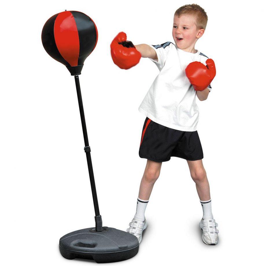 Напольная Боксерская Груша Для Детей  Punching Ball Set Детская боксерская груша