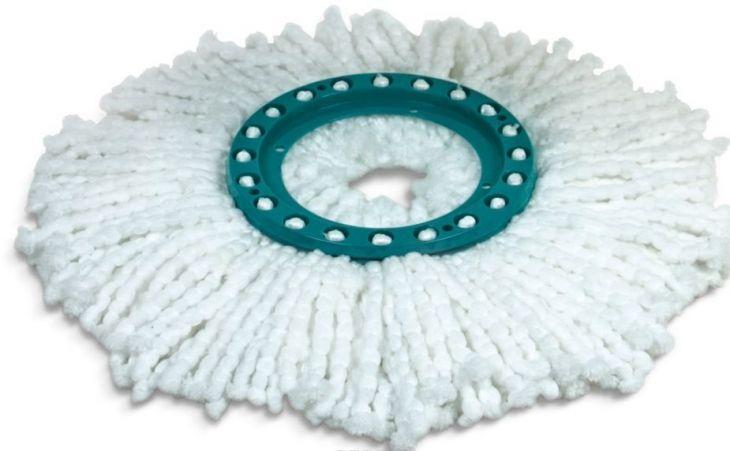 """Насадка для швабры с механизмом отжима """"You'll Love"""", цвет: белый, диаметр 16 см 71821"""