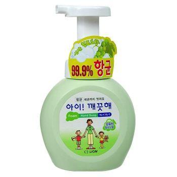 """LION Пенное мыло для рук """"Ai - Kekute"""" Аромат винограда, с антибактериальным эффектом, флакон, 250 мл"""
