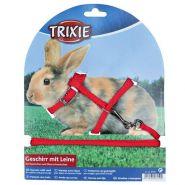 Trixie Шлейка с поводком для кроликов и морских свинок