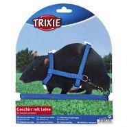 Trixie Шлейка с поводком для хорьков и крыс