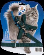 Зооник Шлейка с поводком для кошек