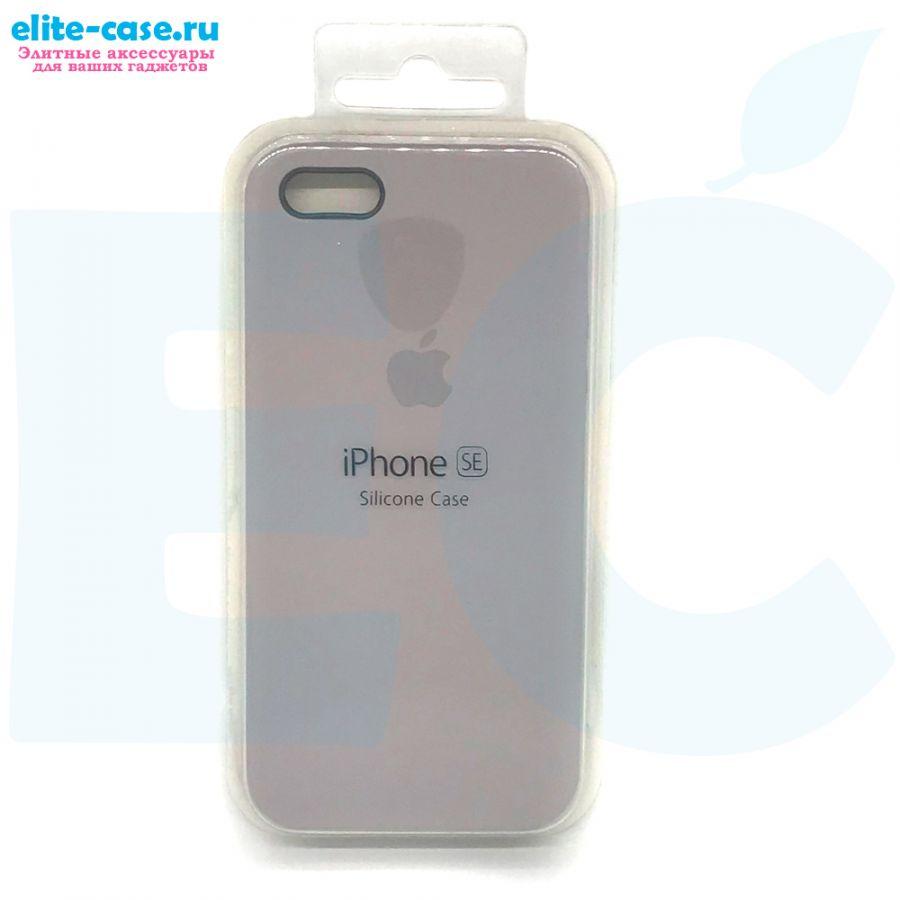 Чехол Silicon Case для iPhone 5/5S/SE серый