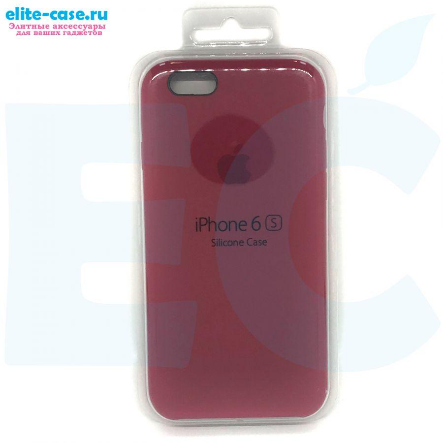 Силиконовый чехол Silicon Case для Apple iPhone 6/6S малиновый