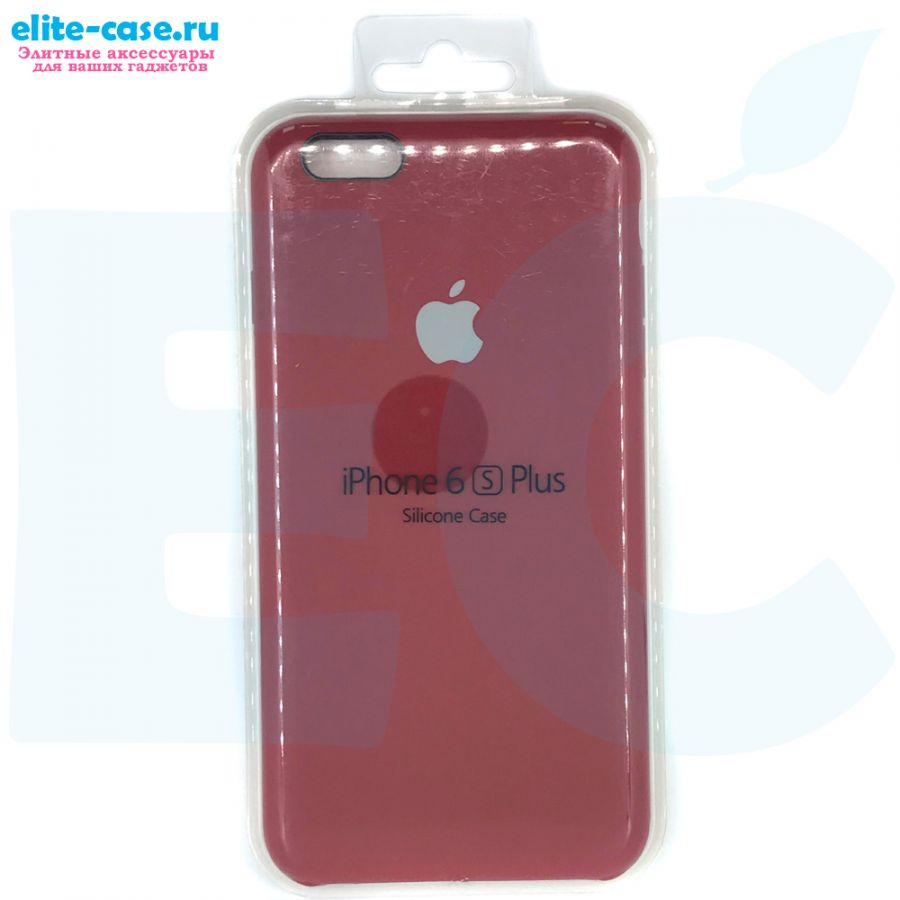Чехол Silicon Case для iPhone 6 Plus/6S Plus малиновый
