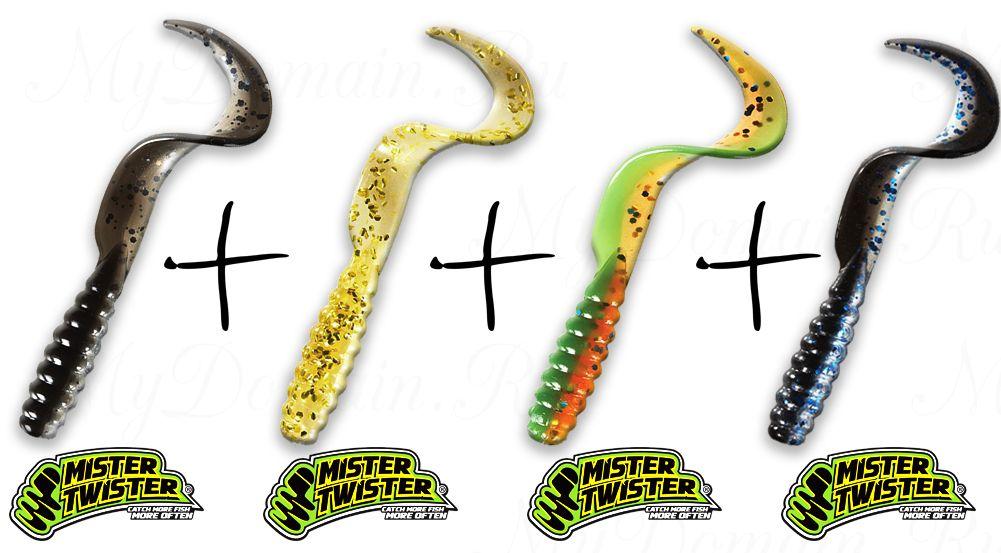 Набор твистеров №8 MISTER TWISTER (55 шт)