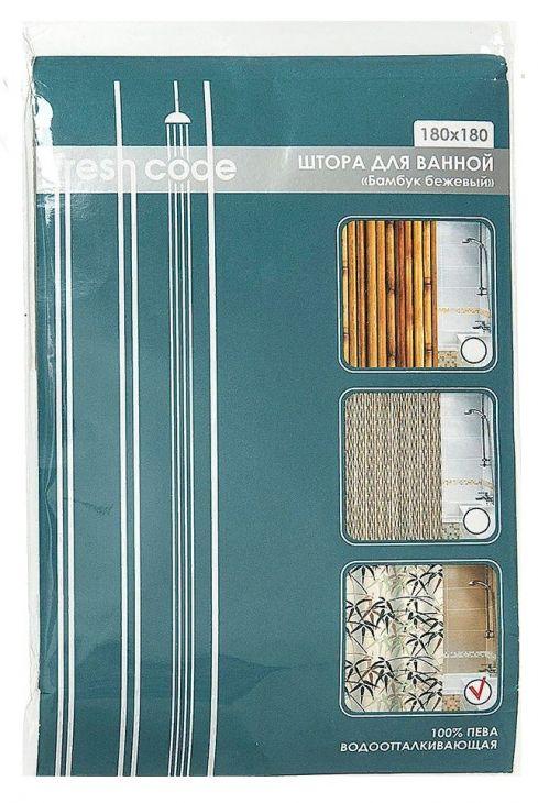 """Штора для ванной Fresh Code """"Бамбук"""" 180 х 180 см 71407"""