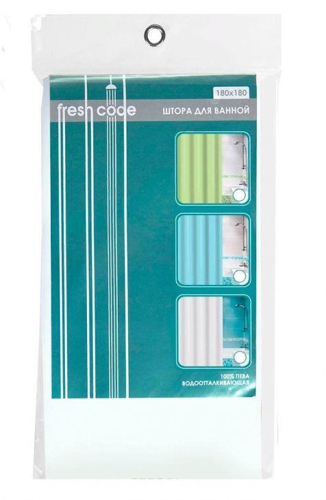 "Штора для ванной ""Fresh Code"" однотонная 180 х 180 см  70425"