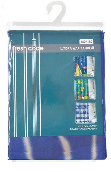 """Штора для ванной """"Fresh Code"""", 180 х 180 см 70360"""
