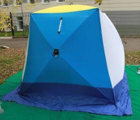 Палатка зимняя СТЭК КУБ-1 трехслойная (дышащая)