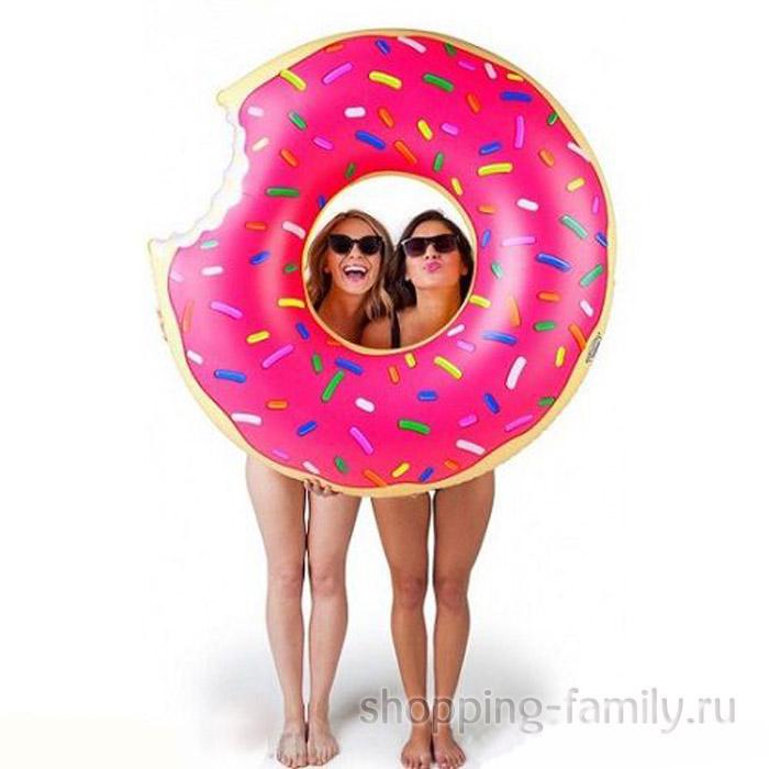 Надувной круг Пончик, 120 см