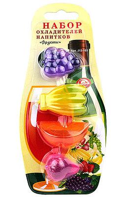 """Набор охладителей напитков """"Фрукты"""" 4 шт"""