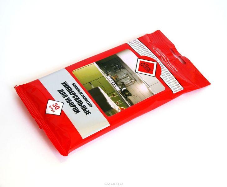 """Влажные салфетки для уборки """"Home Queen"""", универсальные, 30 шт 56798"""
