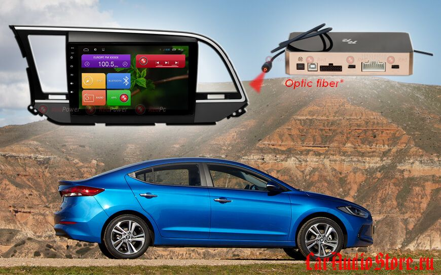 Hyundai Elantra Redpower 31094 R IPS DSP ANDROID 7