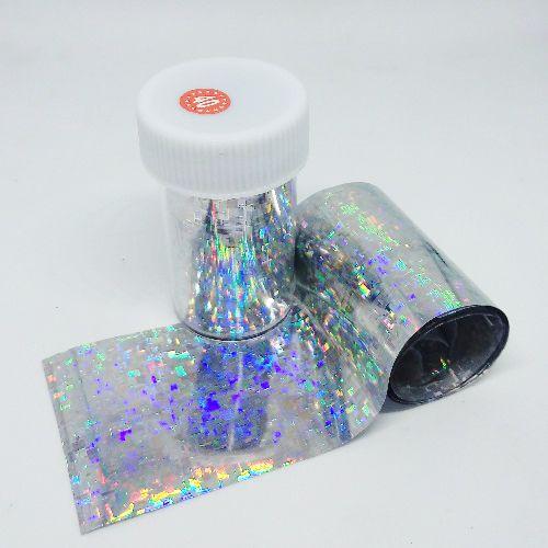 Фольга для литья, серебро, голография 040, 70 см