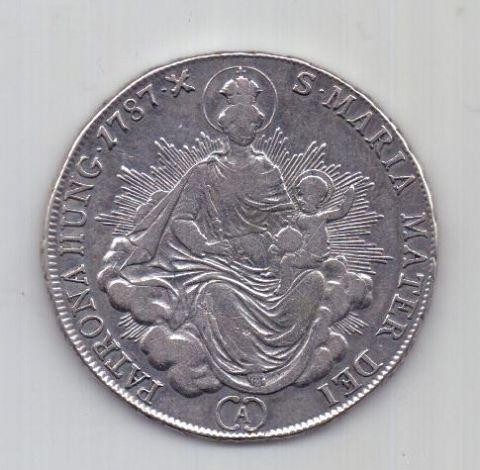 1/2 талера 1787 г. Венгрия. Священная Римская Империя