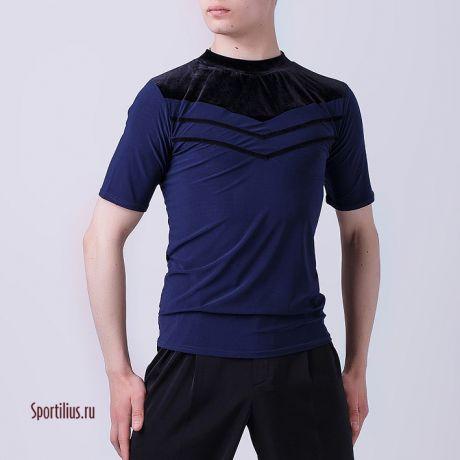 футболка для танцев синяя