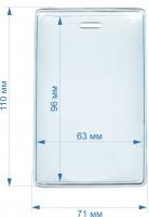 ПВХ карман для пропуска 63*96 мм