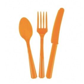 Приборы оранжевые одноразовые