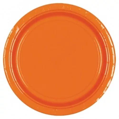 Тарелки оранжевые одноразовые