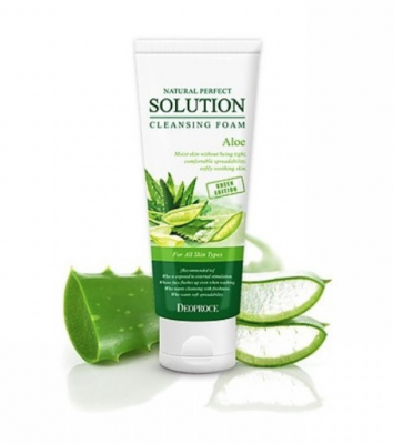 Пенка для умывания алоэ NATURAL PERFECT SOLUTION CLEANSING FOAM GREEN EDITION ALOE 170гр