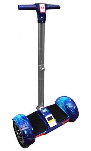 Гироскутер с ручкой А8 Синий Космос