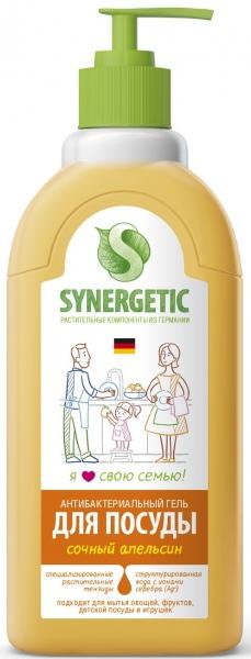 Средство для мытья посуды СОЧНЫЙ АПЕЛЬСИН флакон (дозатор) Synergetic (Синергетик) 500 мл