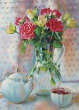 Почтовая открытка Букет роз