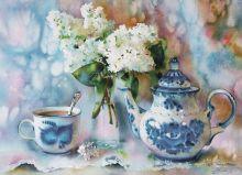 Почтовая открытка Сиреневый чай