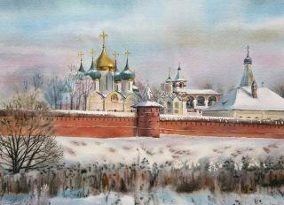 Почтовая открытка Спасо-Евфимиев монастырь в Суздале