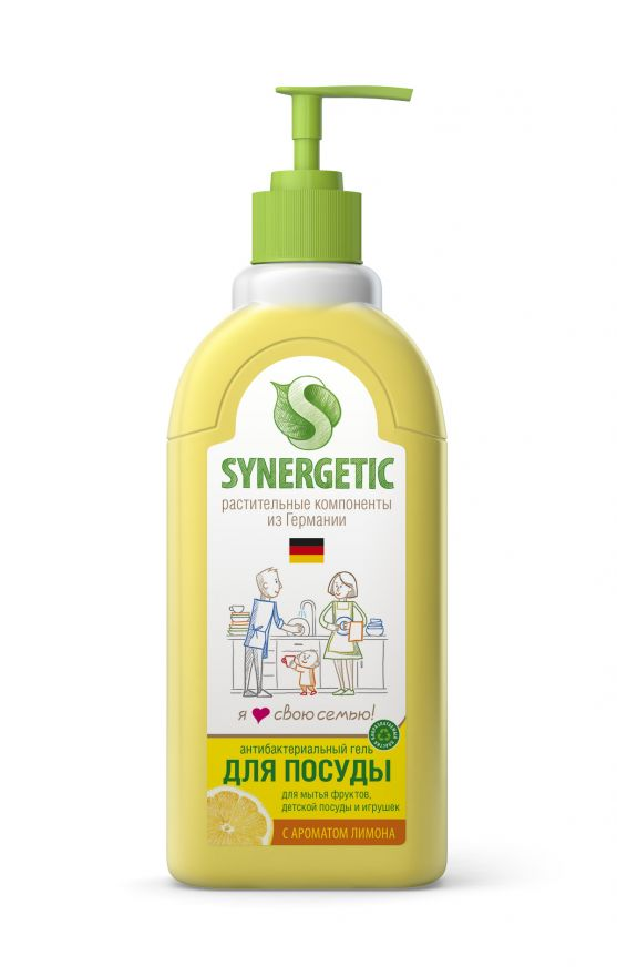 Средство концентрированное для мытья посуды и фруктов ЛИМОН флакон Synergetic (Синергетик) лимон 500 мл