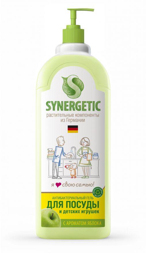 Средство концентрированное для мытья посуды и фруктов ЯБЛОКО флакон Synergetic (Синергетик) 1000 мл