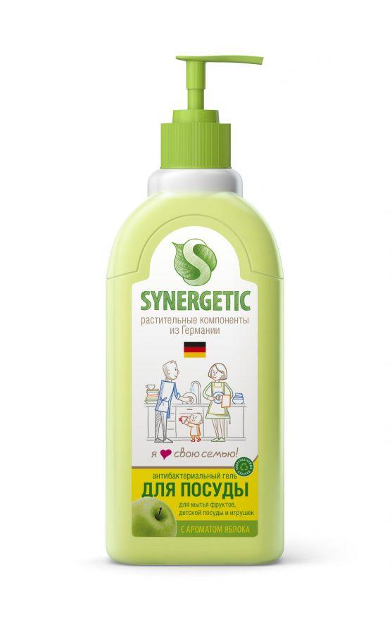 Средство концентрированное для мытья посуды и фруктов ЯБЛОКО флакон Synergetic (Синергетик) 500 мл