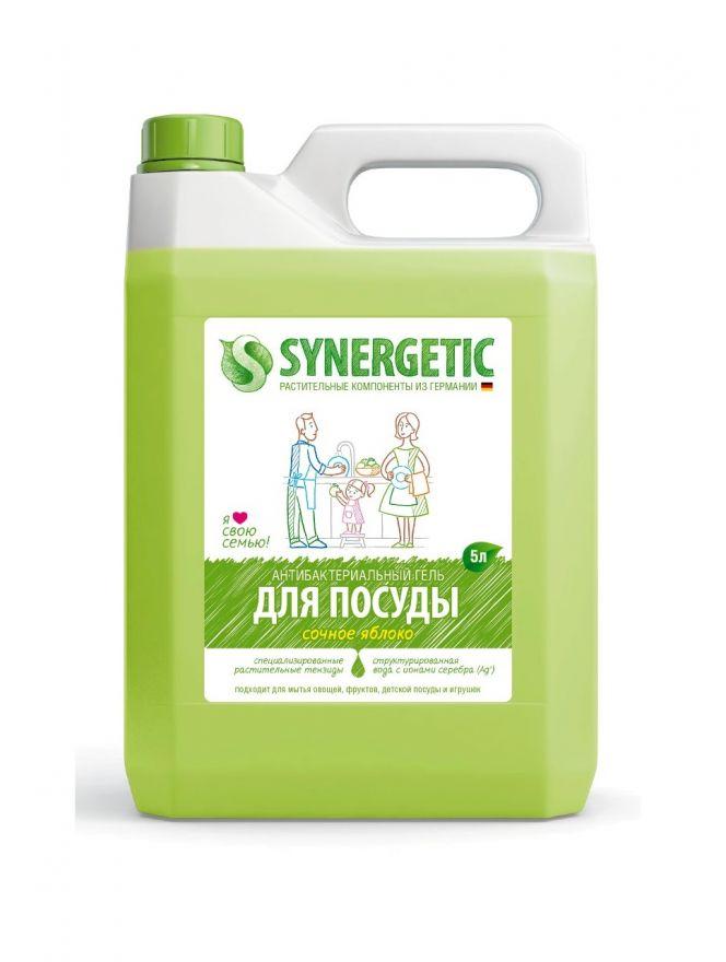 Средство концентрированное для мытья посуды и фруктов ЯБЛОКО флакон Synergetic (Синергетик) 5000 мл