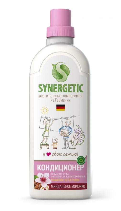 Кондиционер для белья МИНДАЛЬНОЕ МОЛОЧКО Synergetic (Синергетик) 1 л