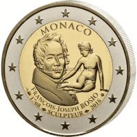 Монако 2 евро 2018 250-летие Франсуа-Жозеф Бозио