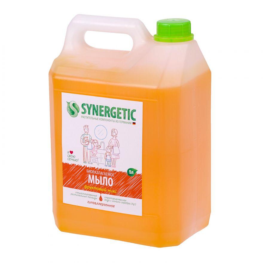 """Мыло жидкое биоразлагаемое для мытья рук и тела """"Фруктовый микс"""" Synergetic (Синергетик) 5000 мл"""
