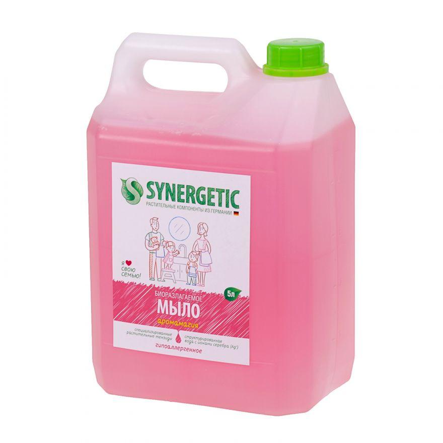 """Мыло жидкое биоразлагаемое для мытья рук и тела """"Аромамагия"""" Synergetic (Синергетик) 5000 мл"""