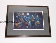 Автографы: My Chemical Romance. Джерард Уэй, Рэй Торо, Майки Уэй, Фрэнк Айеро, Боб Брайар