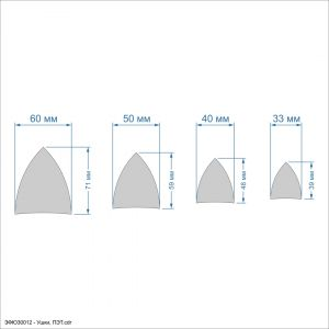 Набор шаблонов ''Ушки'' , ПЭТ 0,7 мм (1уп = 5наборов)