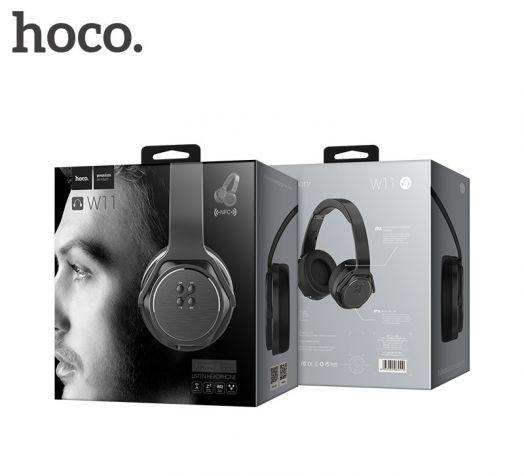 Беспроводные полноразмерные наушники Hoco W11, черный