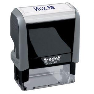 "Штамп стандартный ""Исх №"", оттиск 38х14 мм, синий, TRODAT 4911P4-1.23, 53565"