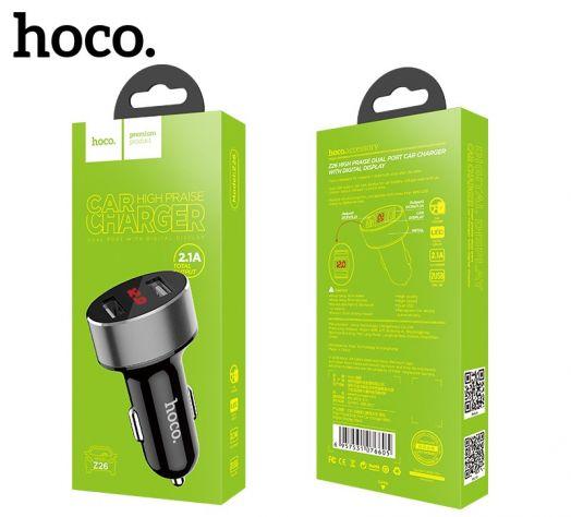 Автомобильное зарядное устройство Hoco Z26, 2xUSB, черный