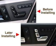 Кнопки регулировки передних сидений, серебристые, вариант II