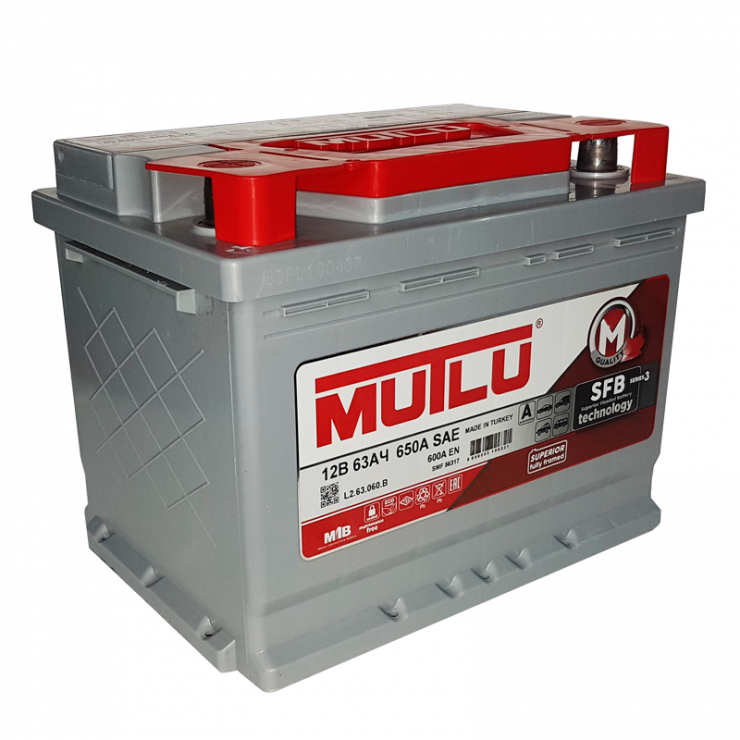 Автомобильный аккумулятор АКБ MUTLU (Мутлу) L2.63.060.B SMF 56317 63Ач П.П.