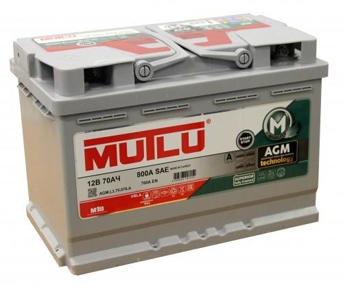 Автомобильный аккумулятор АКБ MUTLU (Мутлу) AGM L3.70.076.A 70Ач О.П.