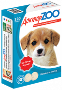 Доктор ZOO Здоровый щенок Витаминное лакомство с кальцием (120 табл.)