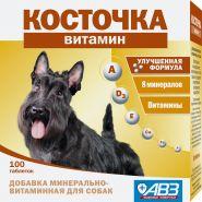 """Косточка Минерально-витаминная добавка для собак """"Витамин"""" (100 табл.)"""