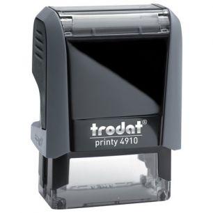 Оснастка для штампа, оттиск 26х9 мм, синий, TRODAT 4910 P4, подушка в комплекте, корпус черный, 56876